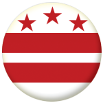 Washington DC Flag 58mm Mirror Keyring